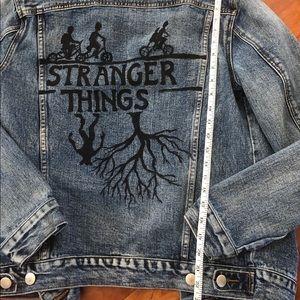 Stranger things jean jackets adult medium